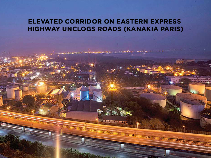 Elevated Corridor on Eastern Express Highway unclogs roads