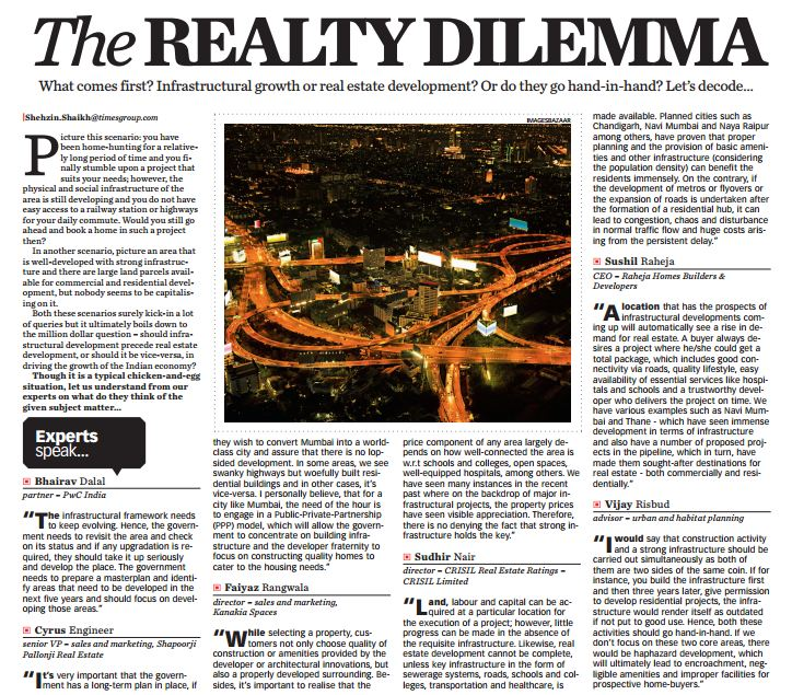 What comes first? Infrastructural growth or real estate development?